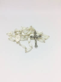 Mother of Pearl Standard Small Oval Bead Rosary